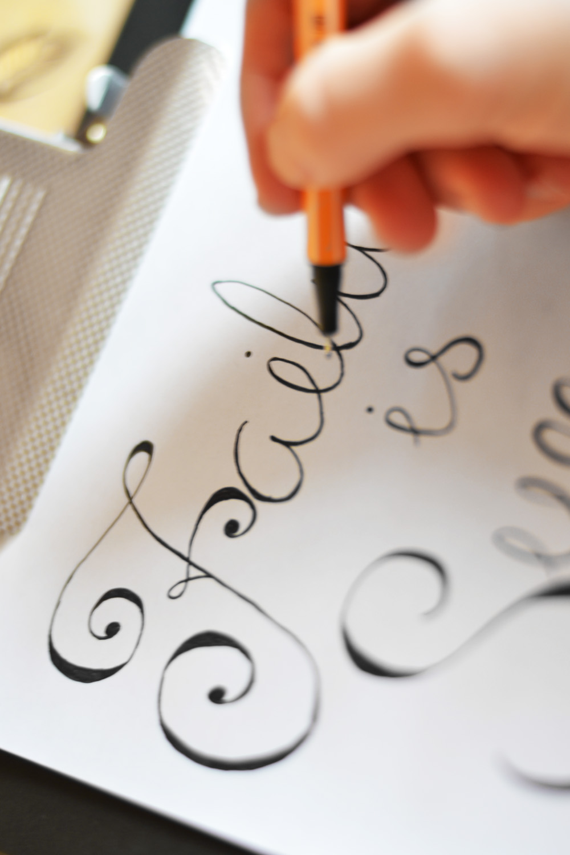 failure lettering