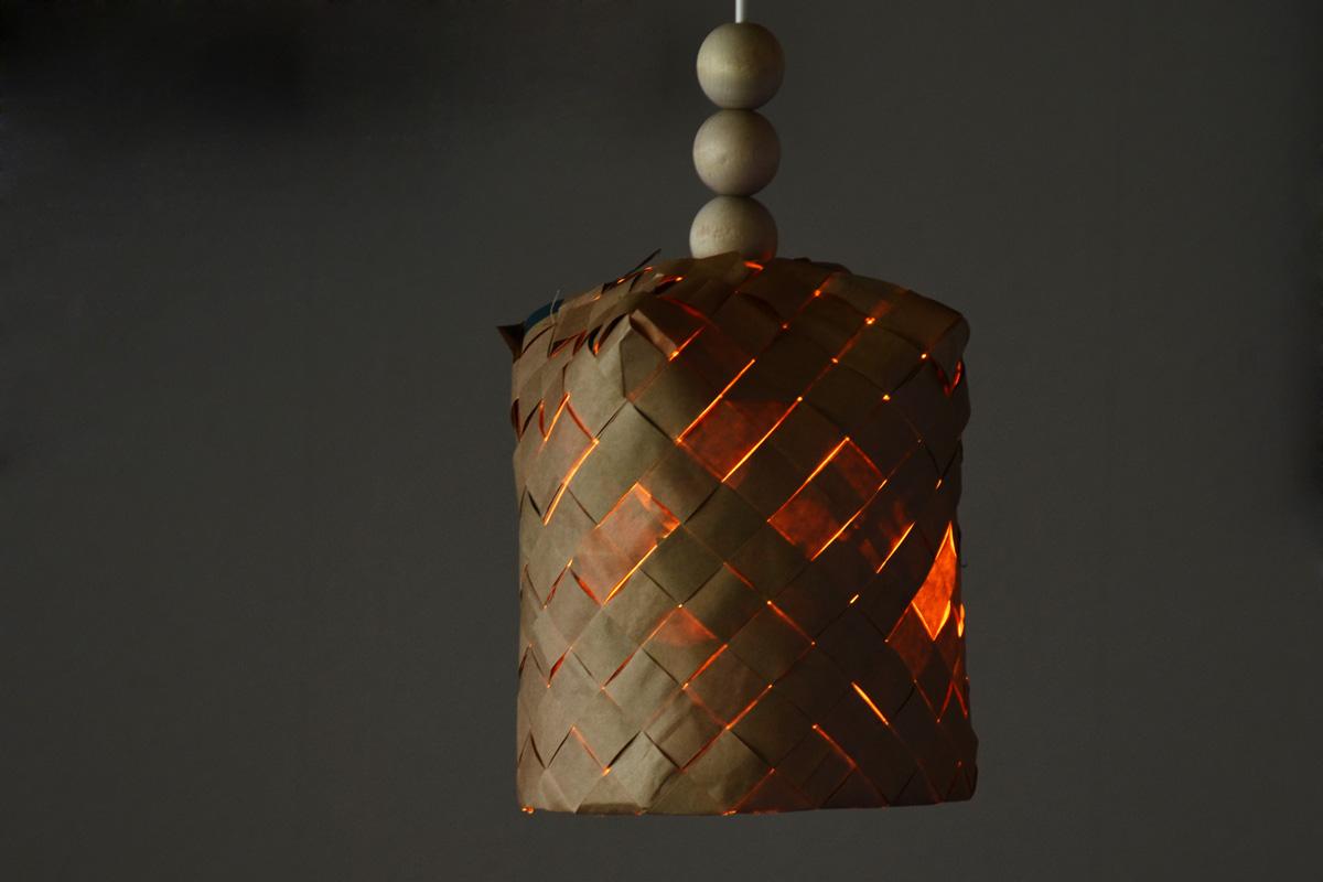 flätad lampskärm