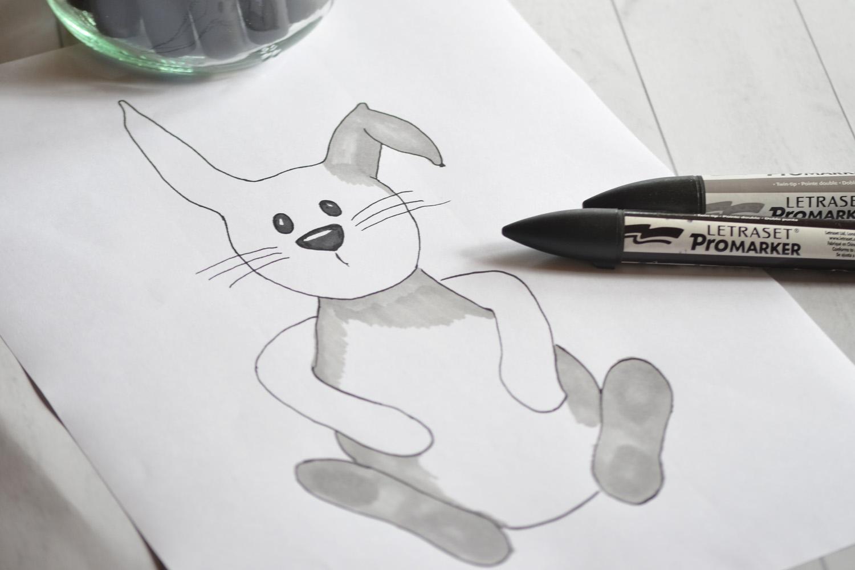 färglägga kanin