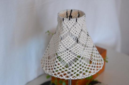 lampskärm makramé
