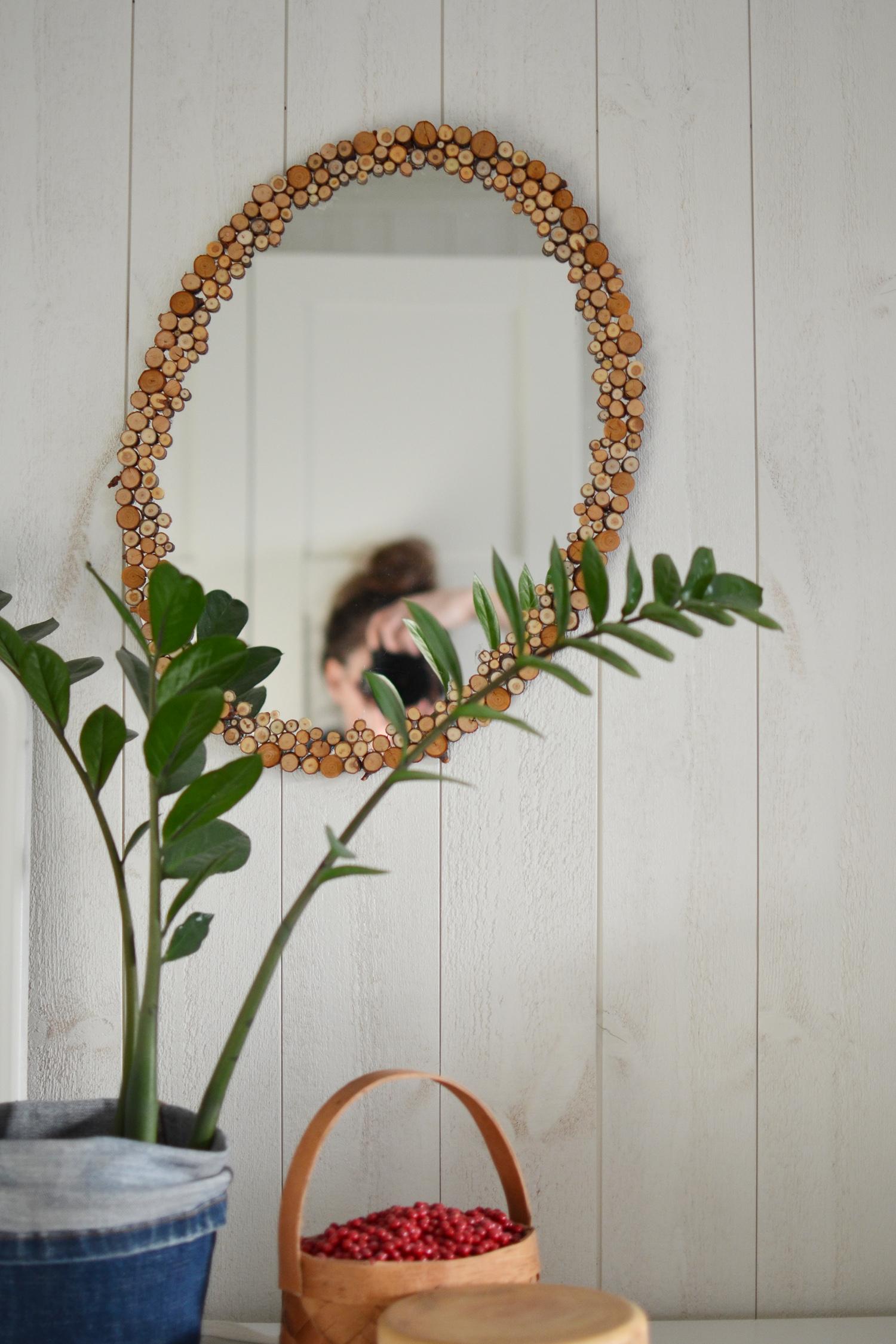 naturinspirerad spegelram