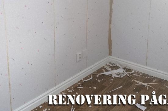 Renovering pågår