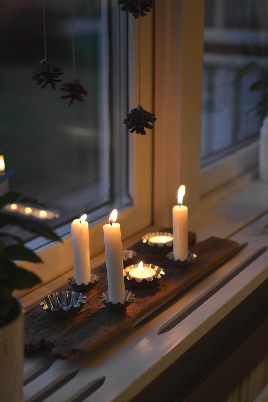 Ljusstake av drivved