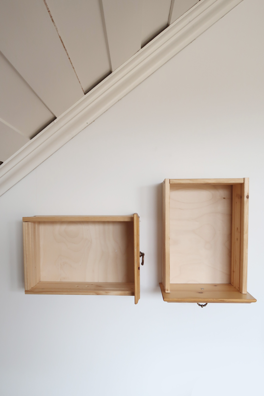 Byrålåda på väggen